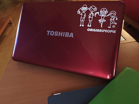 Personalize your computer with a family sticker decal