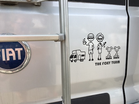 Rv decals and family stickers