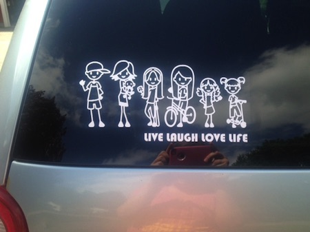 Vinyl decals for cars with personal statement